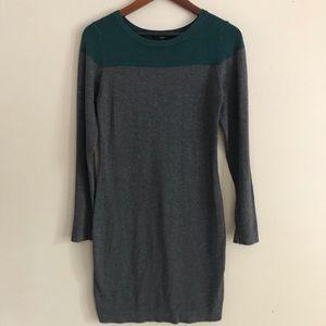 TART Gray & Green Thin Sweater Dress - M